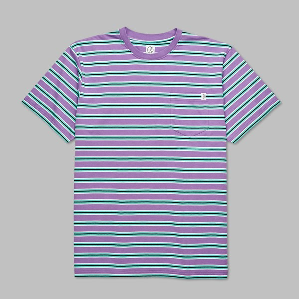 POLAR SKATE CO. STRIPED POCKET T-SHIRT VIOLET MINT