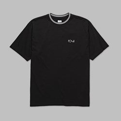 POLAR SKATE CO. STRIPED RIB TEE BLACK