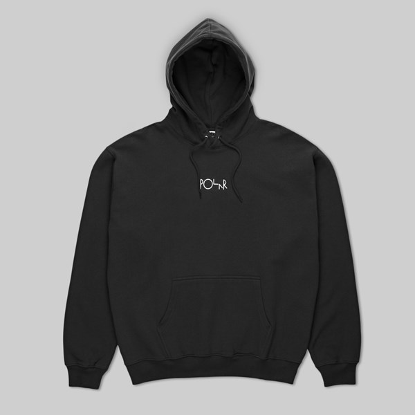 POLAR SKATE CO. STROKE LOGO PO HOOD BLACK
