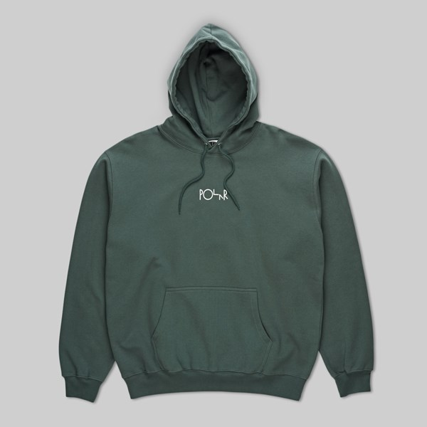 POLAR SKATE CO. STROKE LOGO PO HOOD GREY GREEN