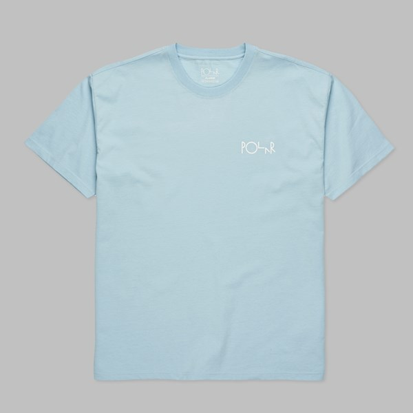POLAR SKATE CO. STROKE LOGO SS TEE LIGHT BLUE