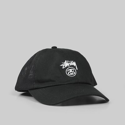 STUSSY STOCK LOCK LOW PRO TRUCKER CAP BLACK