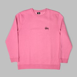 STUSSY BASIC CREW SWEAT ORCHID