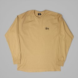STUSSY BASIC LS T SHIRT LIGHT BROWN