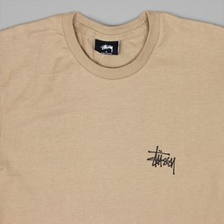 STUSSY BASIC T SHIRT LIGHT BROWN