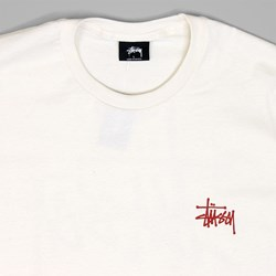 STUSSY BASIC T SHIRT NATURAL