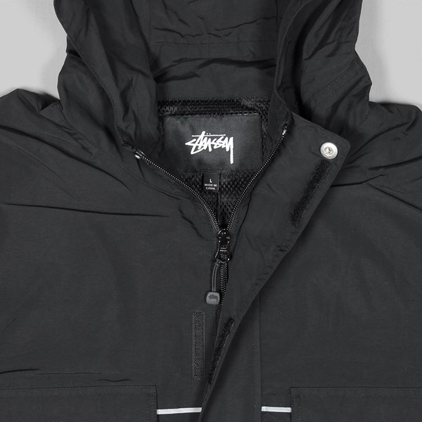 STUSSY BIG POCKET SHELL JACKET BLACK