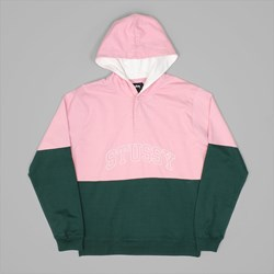 STUSSY BLOCK HOODED JERSEY PINE