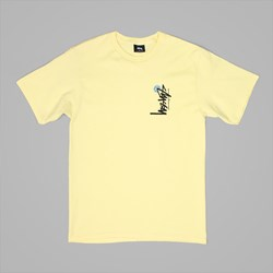 STUSSY BUANA STOCK T SHIRT PALE YELLOW