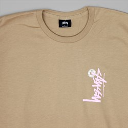 STUSSY BUANA STOCK T SHIRT LIGHT BROWN