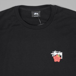 STUSSY CALI ROSE T SHIRT BLACK