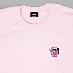 STUSSY CALI ROSE T SHIRT LIGHT LAVENDER