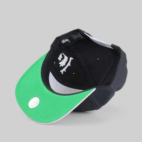 4279f47e050 STUSSY CHENILLE S SNAPBACK CAP BLACK