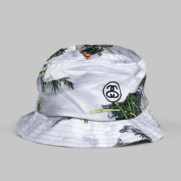STUSSY CHINESE BUCKET HAT GREY  d890b899d9