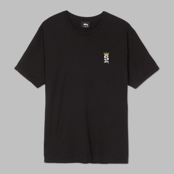 STUSSY CROWN ROYAL SS T-SHIRT BLACK
