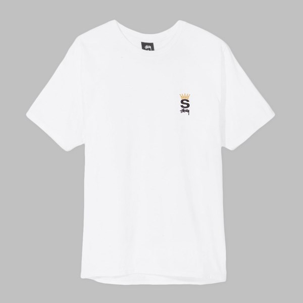 STUSSY CROWN ROYAL SS T-SHIRT WHITE