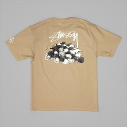STUSSY DEAD ROSES T SHIRT LIGHT BROWN