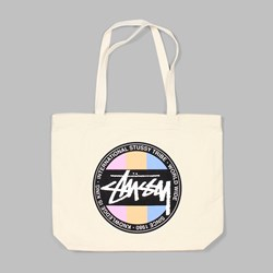STUSSY DOT TOTE BAG NATURAL