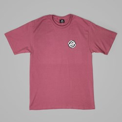 STUSSY FLIPPED UP T SHIRT BERRY