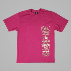STUSSY GLOBAL GATHERING T SHIRT GRAPE