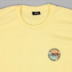 STUSSY HALFTONE DOT T SHIRT PALE YELLOW