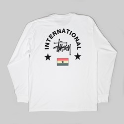STUSSY INT. ARC LONG SLEEVE TEE WHITE
