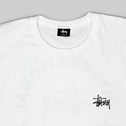 STUSSY INT. ARC SS TEE WHITE