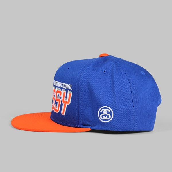 STUSSY INTERNATIONAL SNAPBACK CAP BLUE
