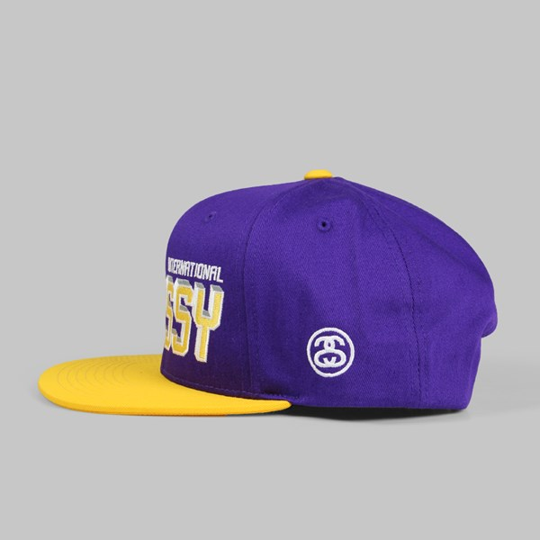 STUSSY INTERNATIONAL SNAPBACK PURPLE