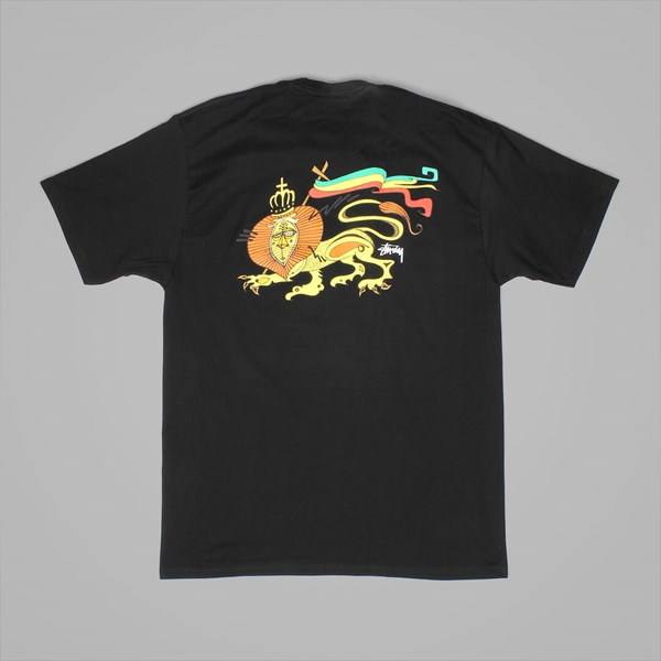 STUSSY IRIE LION T SHIRT BLACK
