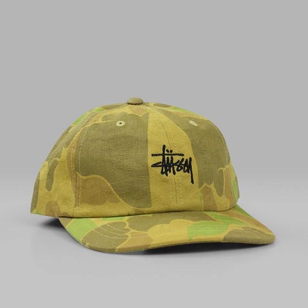 f17ba5984c7 STUSSY JACQUARD CAMO LOW CAP BROWN