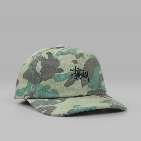 ee9fb075782 STUSSY JACQUARD CAMO LOW CAP GREEN