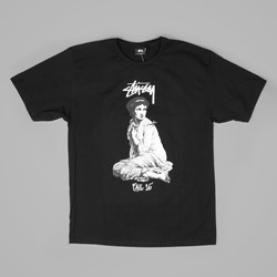 STUSSY LADY ROME T SHIRT BLACK