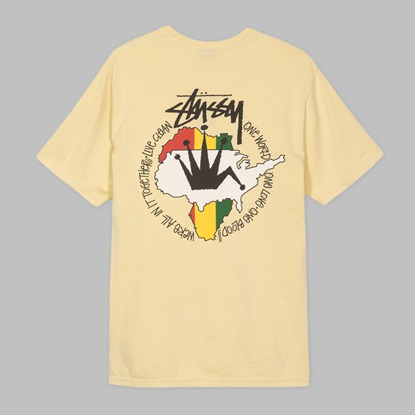 STUSSY LIVE CLEAN PREMIUM SS T-SHIRT NATURAL