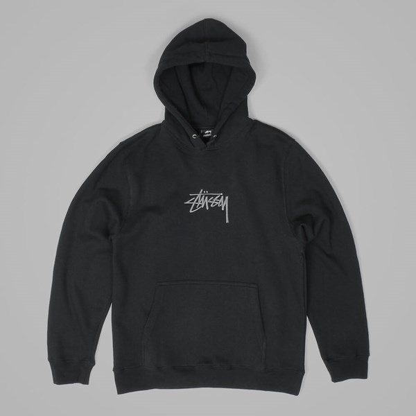 STUSSY NEW STOCK APPLIQUE HOOD BLACK