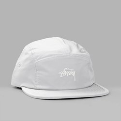 STUSSY NYLON POLY STOCK LOGO CAMP CAP KHAKI