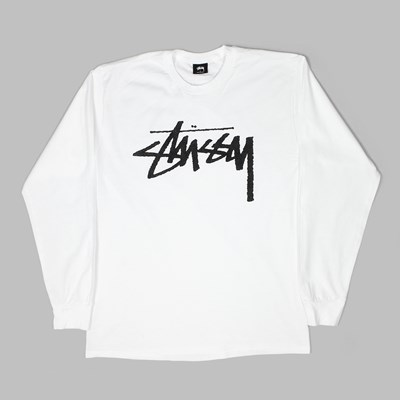 STUSSY OLD STOCK LS T-SHIRT WHITE