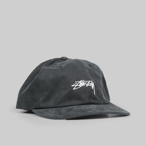 STUSSY PEACHED SMOOTH STOCK LOW PRO CAP BLACK