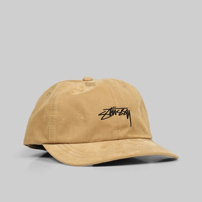 STUSSY PEACHED SMOOTH STOCK LOW PRO CAP CAMEL