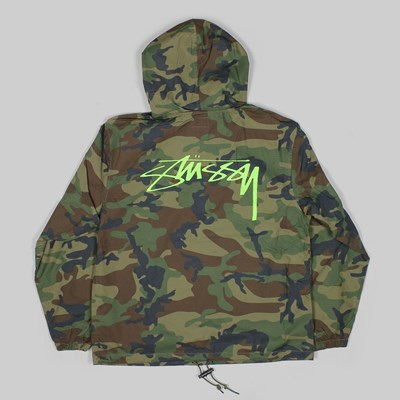 STUSSY RIPSTOP PULLOVER JACKET CAMO