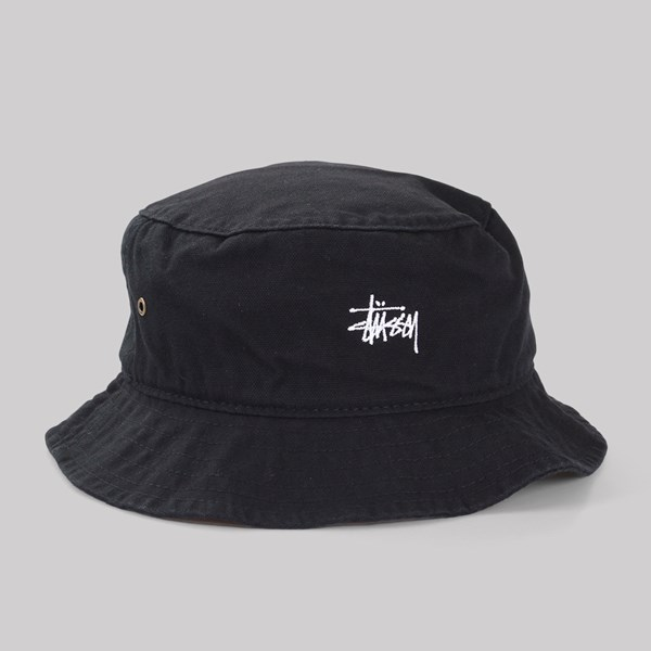 73a274a90c1 STUSSY SMOOTH CRUSHER BUCKET HAT BLACK