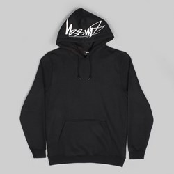 STUSSY SMOOTH STOCK APPLIQUE HOOD BLACK