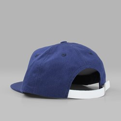STUSSY SMOOTH STOCK CANVAS CAP NAVY