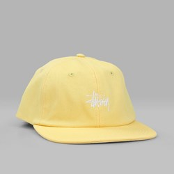 STUSSY SMOOTH STOCK CANVAS CAP YELLOW