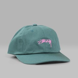 STUSSY SMOOTH STOCK LOW CAP GREEN
