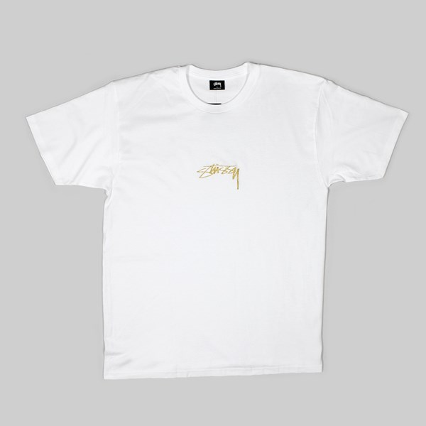 STUSSY SMOOTH STOCK SS T-SHIRT WHITE
