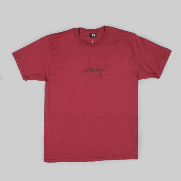 STUSSY SMOOTH STOCK SS T-SHIRT WINE