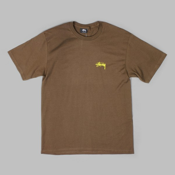 STUSSY SOUNDS SYSTEM SS T-SHIRT CHOCOLATE