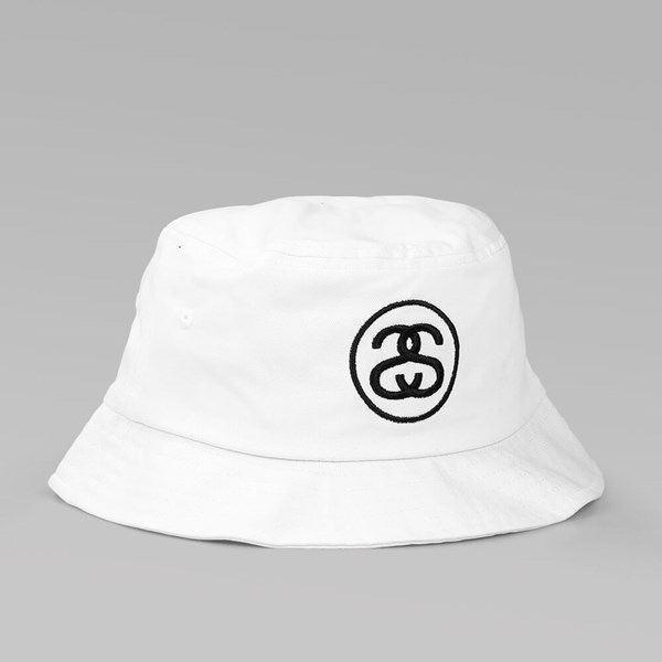 STUSSY SS-LINK SP16 BUCKET HAT WHITE