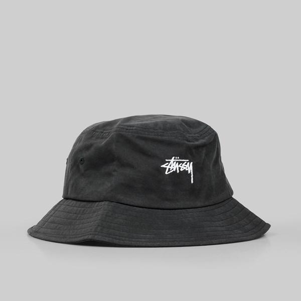 28eab740bbd STUSSY STOCK BUCKET HAT BLACK